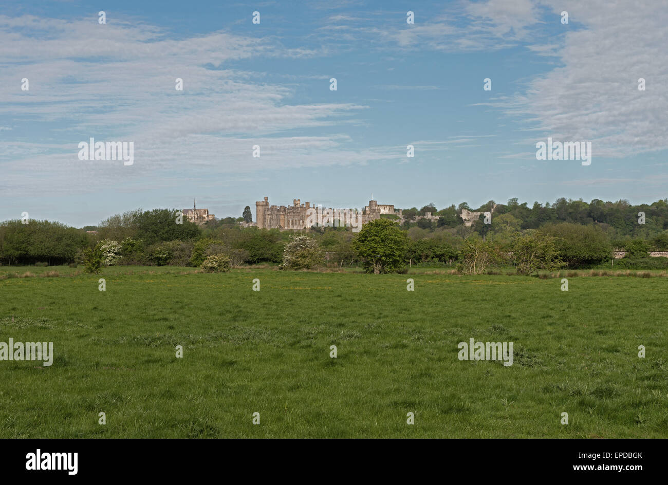 Château d'Arundel, West Sussex, Angleterre, RU, FR Photo Stock
