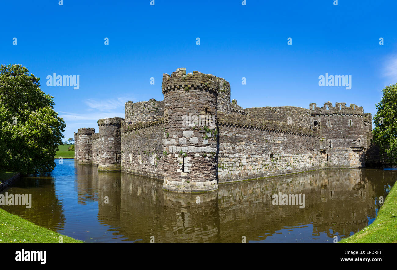 Château de Beaumaris, Beaumaris, Anglesey, Pays de Galles, Royaume-Uni Photo Stock