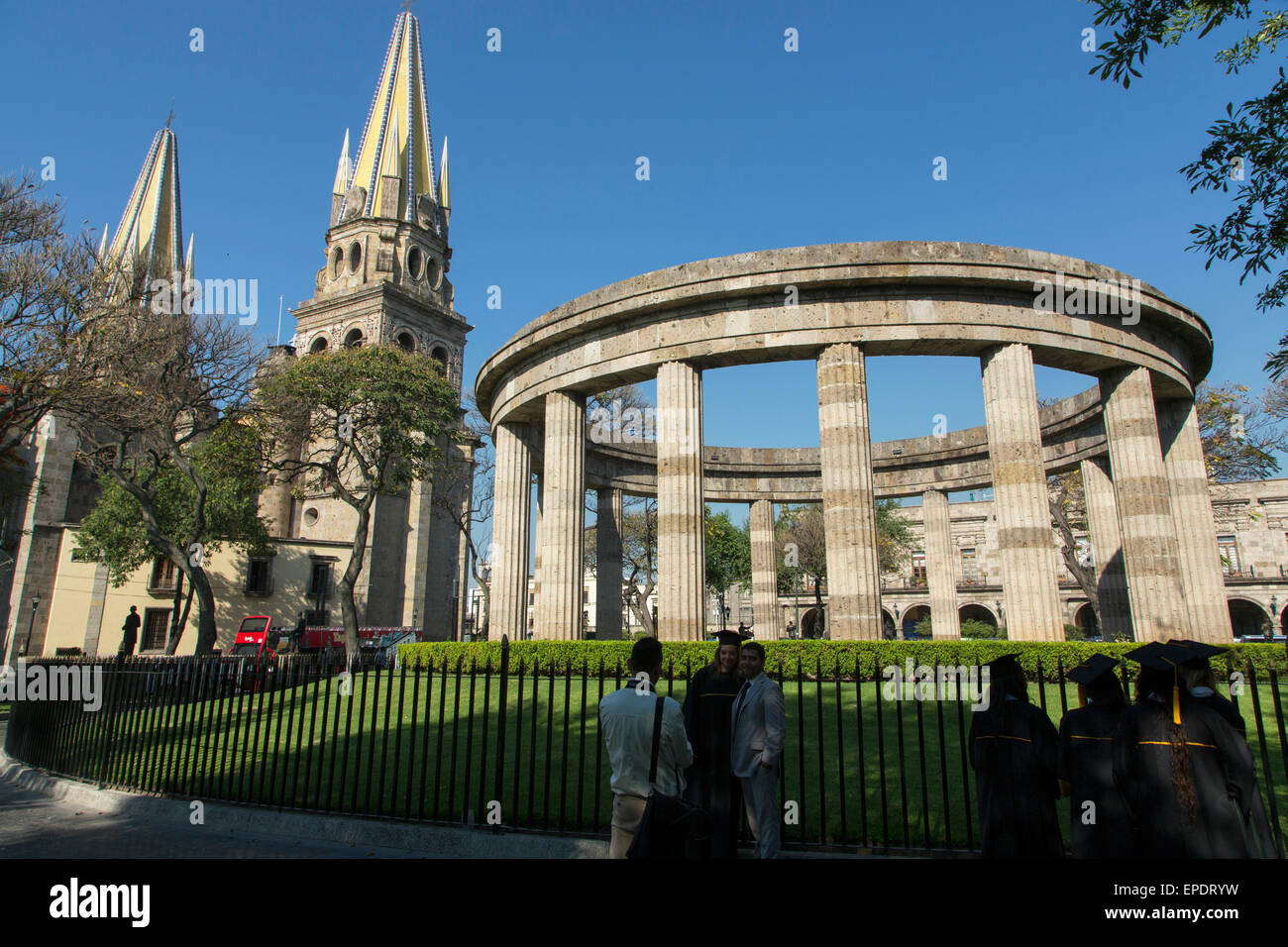 Rotonde de personnes illustres de Jalisco, Guadalajara, Jalisco, Mexique Banque D'Images