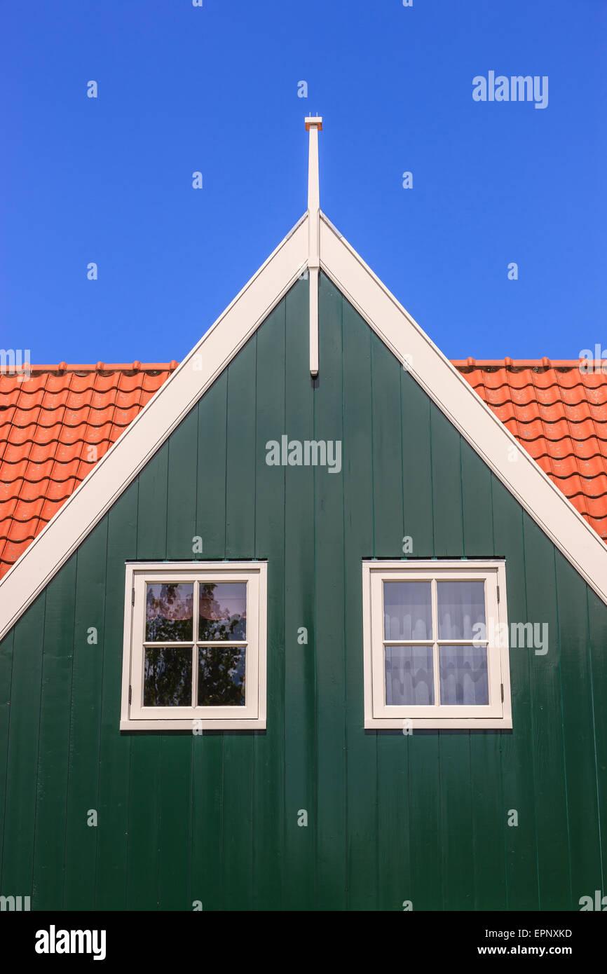 La vieille ville historique de Marken, au nord d'Amsterdam, aux Pays-Bas. Photo Stock