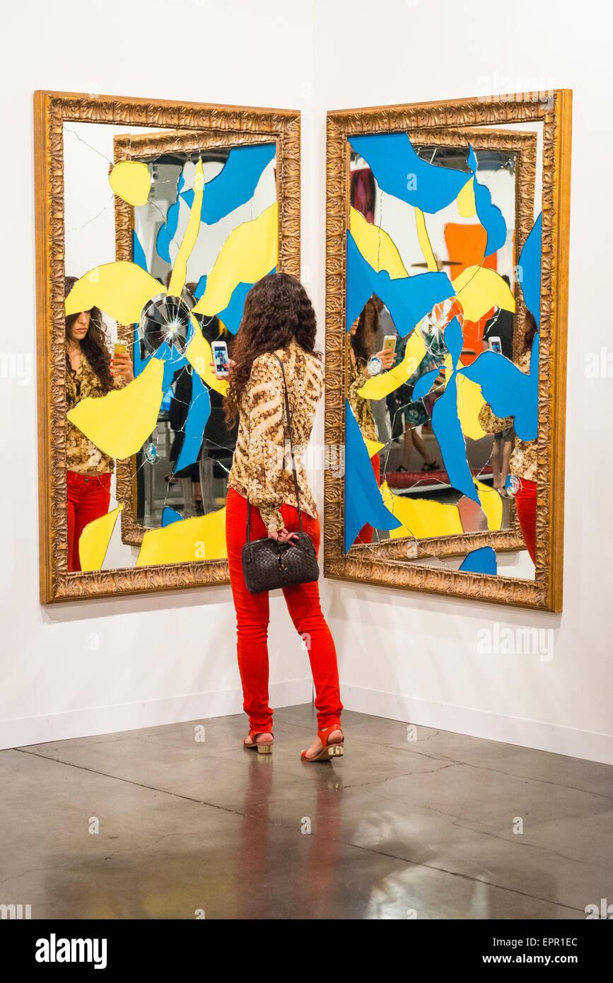 Art Basel Miami Floride salon international de peintures contemporaines modernes exposition sculpture photos jolie Photo Stock