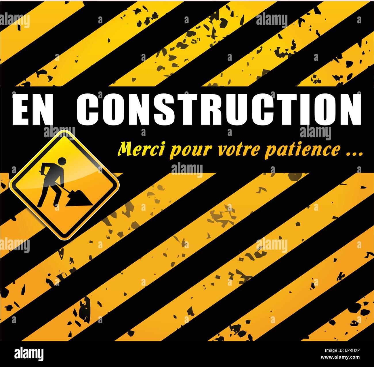 Traduction Francaise De La Page Du Site Web En Construction Vecteurs