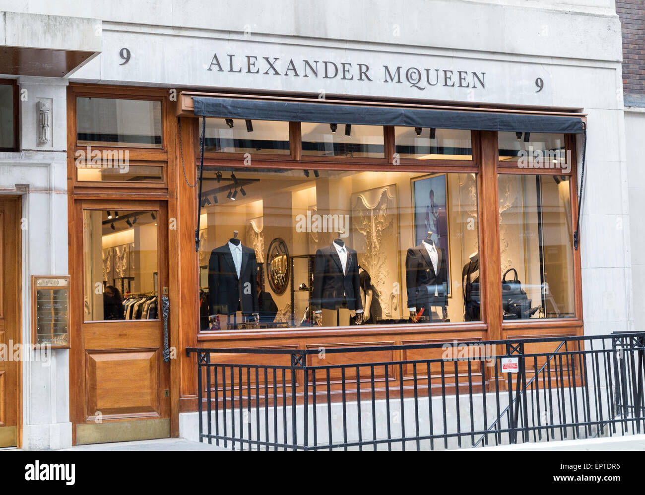 Alexander Mcqueen dans Savile Row London Grande-Bretagne Photo Stock