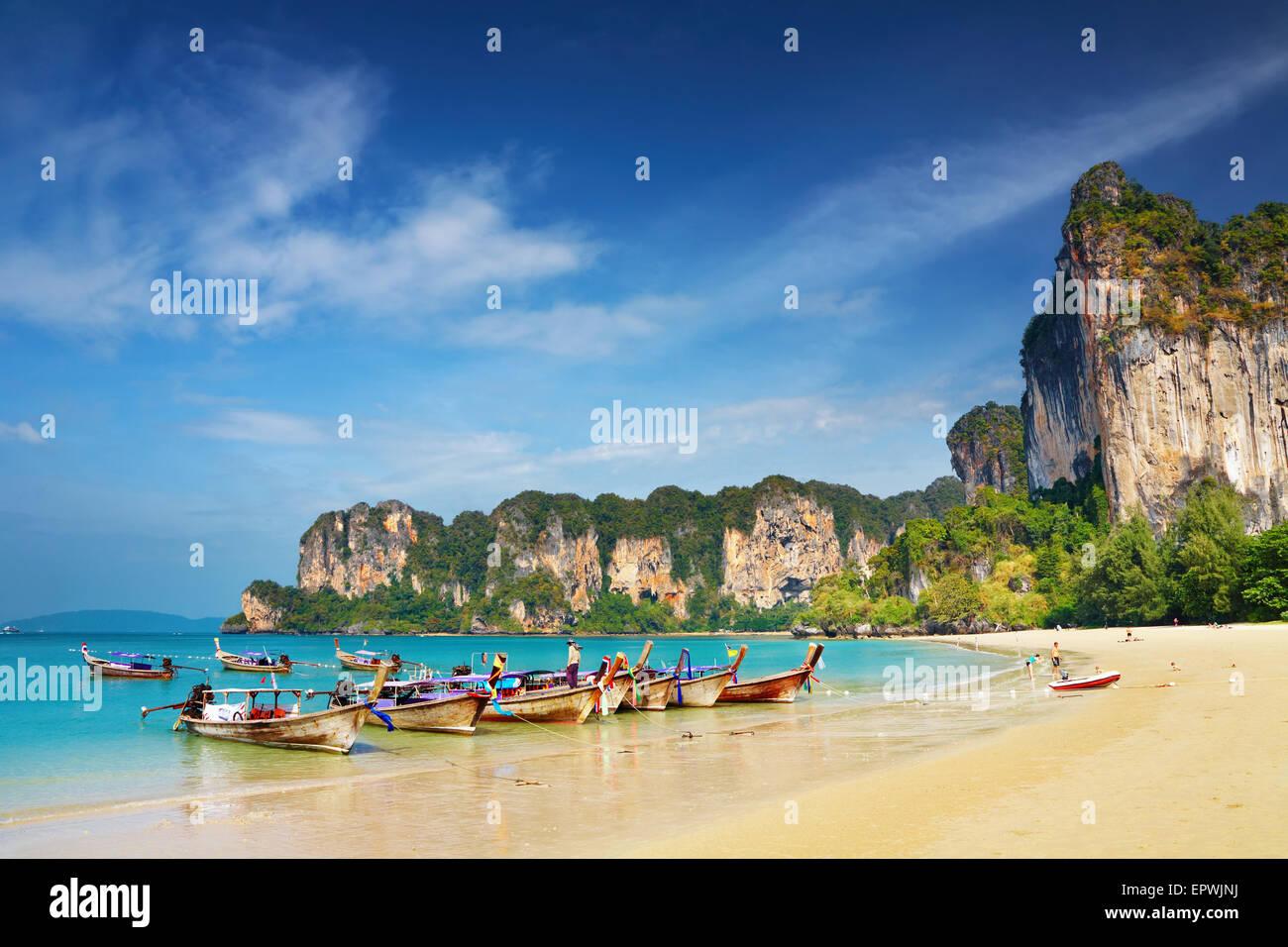 Tropical beach, la mer d'Andaman, Thaïlande Photo Stock