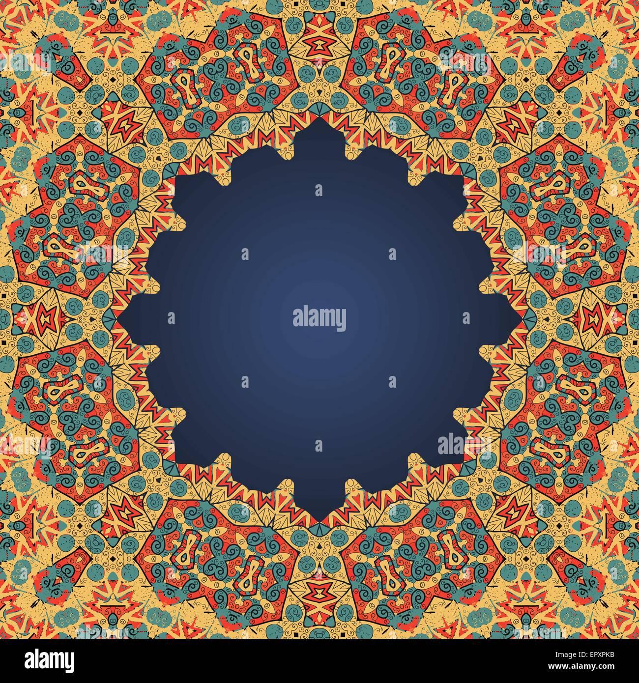 Cadre rond pour le texte en style arabe beaucoup de copyspace Photo Stock
