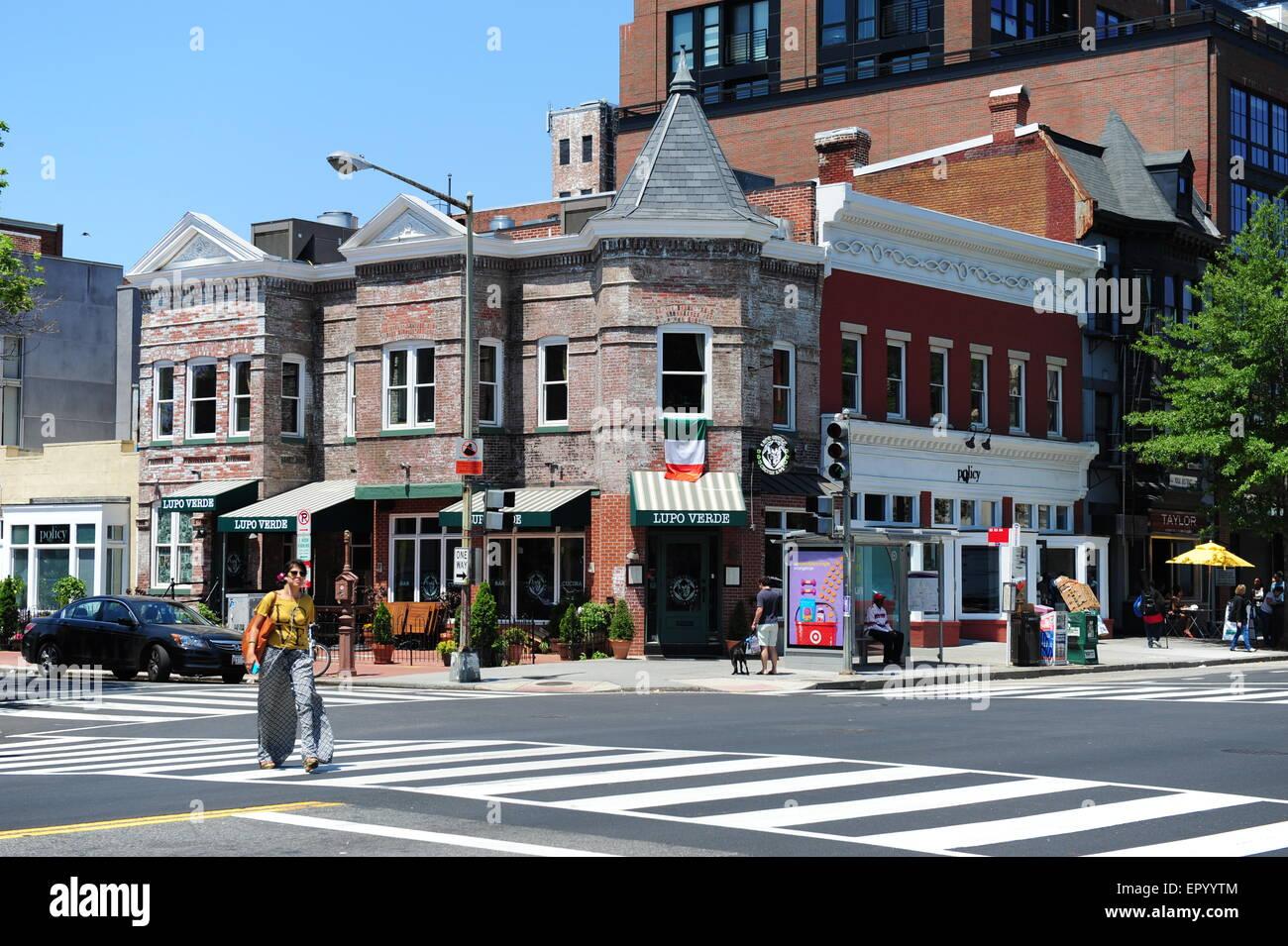 USA Washington DC boutiques et d affaires le long de 14th Street NW près du  corridor de la rue U Coin de 14e rue et T f79714e3a7e2