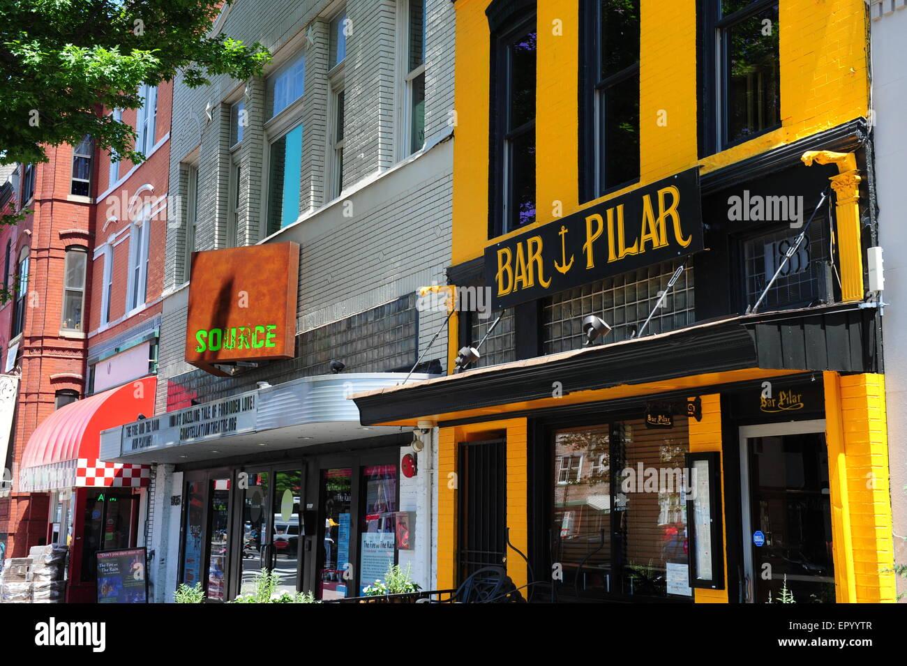 USA Washington DC boutiques et d affaires le long de 14th Street NW près du  corridor de la rue U - Le Bar Pilar et Source Theatre 3d6b7b208842