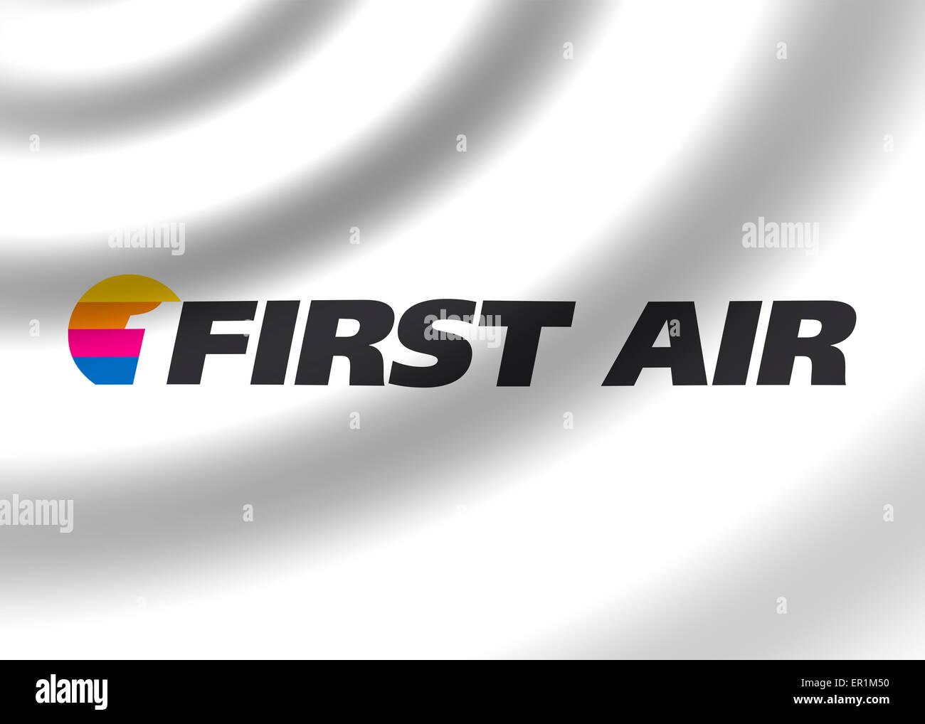 Première icône symbole du drapeau logo air signe l'emblème Photo Stock