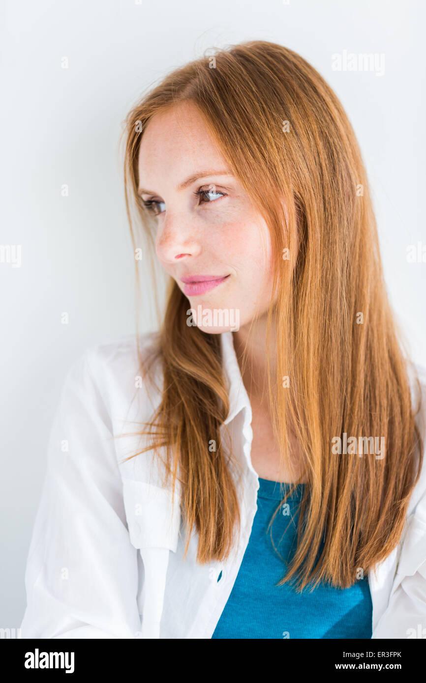 Portrait d'une femme. Photo Stock