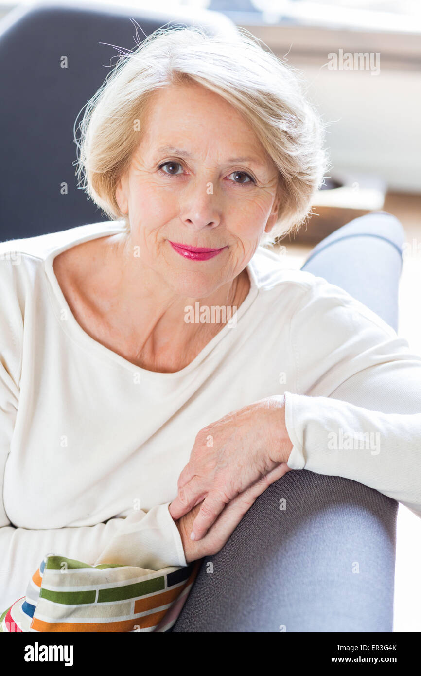Senior woman portrait. Photo Stock
