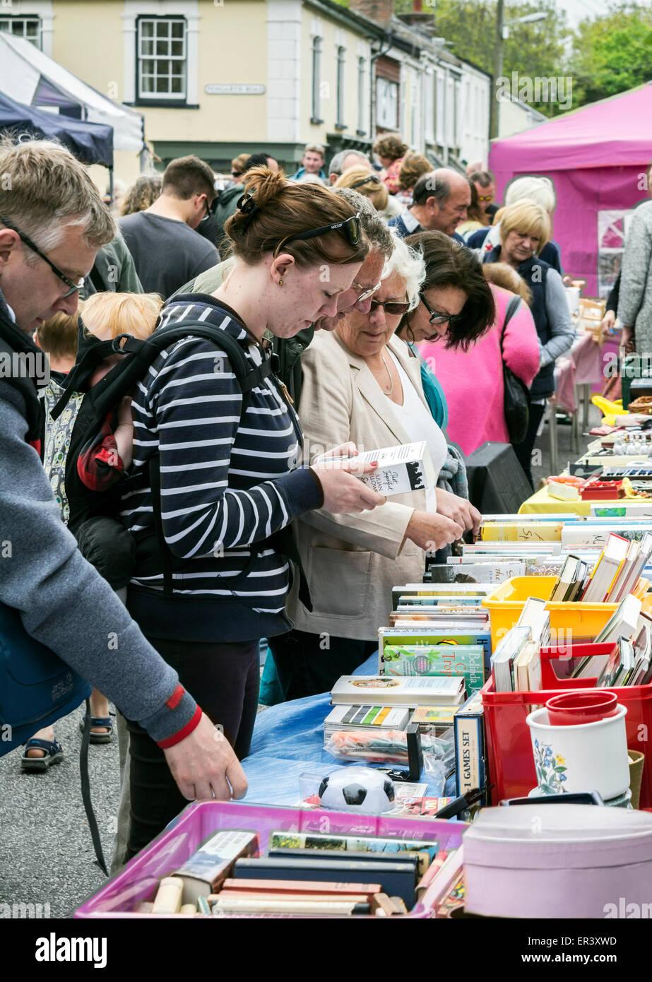 Un marché de rue à St.Agnes, Cornwall, UK Photo Stock