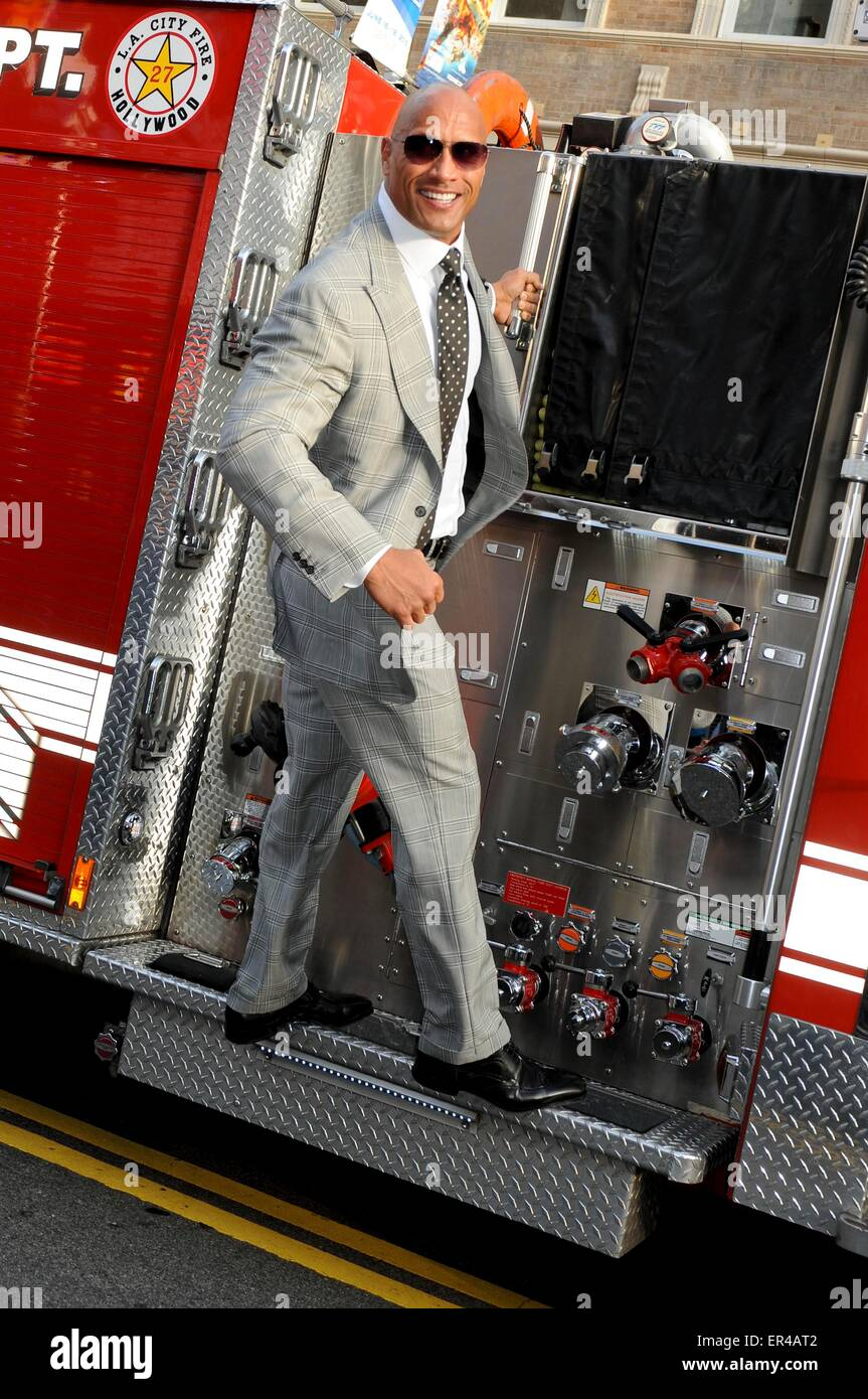 Los Angeles, Californie, USA. 26 mai, 2015. Dwayne Johnson San Andreas 26/05/15 Premiere film Hollywood/photo : Photo Stock