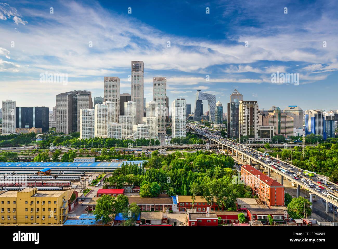 Beijing, Chine CBD d'horizon. Photo Stock