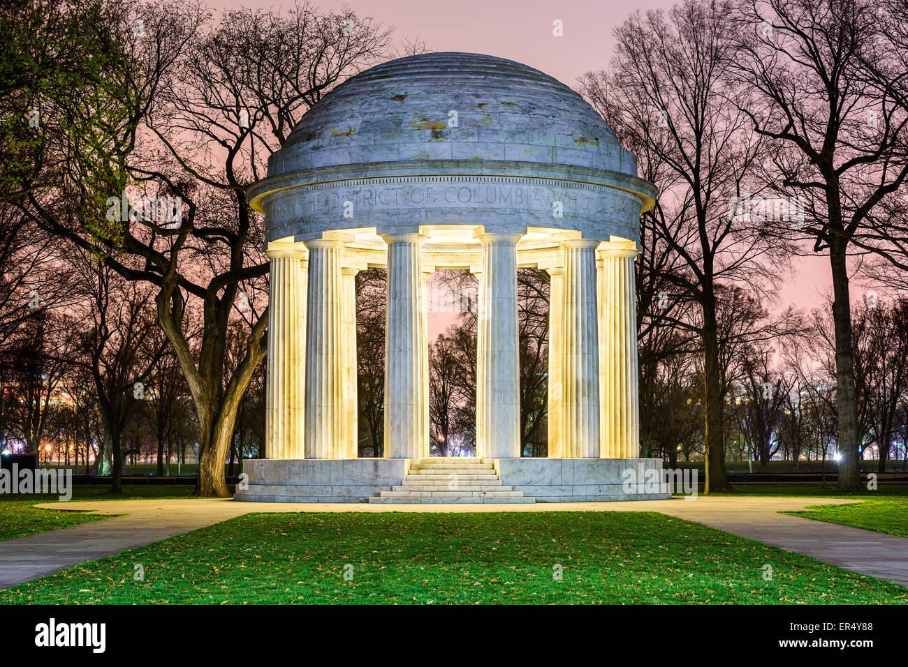 Washington, DC au Monument commémoratif de guerre DC, honorer les citoyens du District de Columbia qui a servi Photo Stock