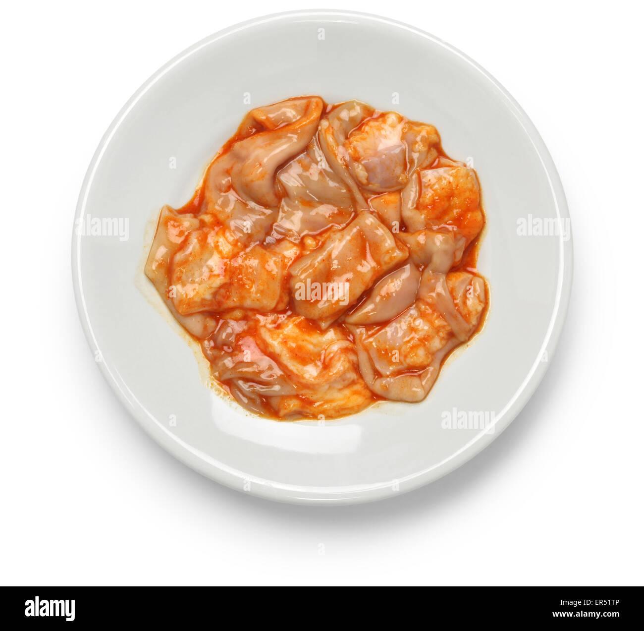 La caillette, sac de présure, reed tripes, barbecue coréen ingredient Photo Stock