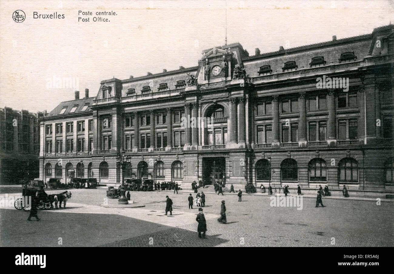 Bureau de poste bruxelles belgique années banque d images
