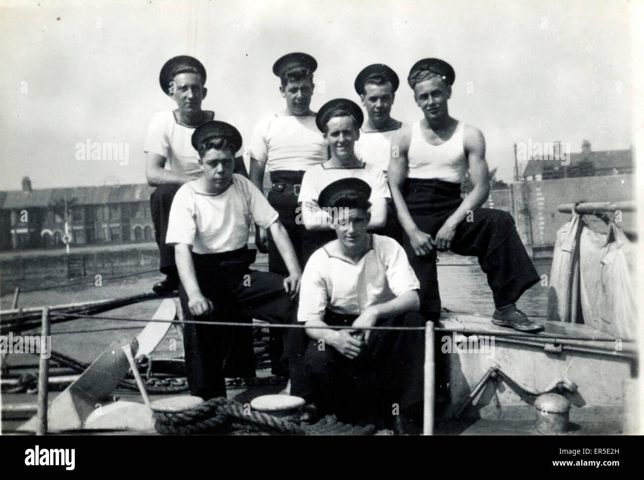 Le personnel de la marine, Southampton, Hampshire, Angleterre. Années 1950 Photo Stock