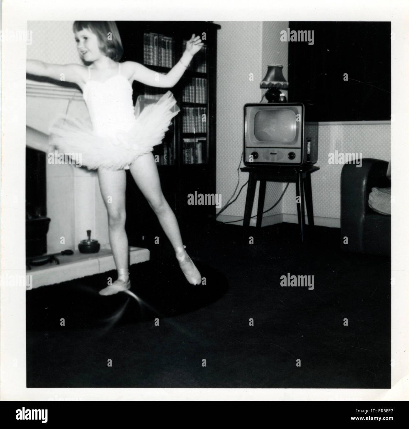 Vintage années 50, la télévision, l'Angleterre. Années 1950 Photo Stock