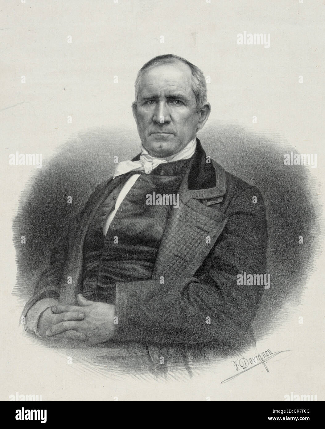 Sam Houston. Date c1848 27 avr. Photo Stock