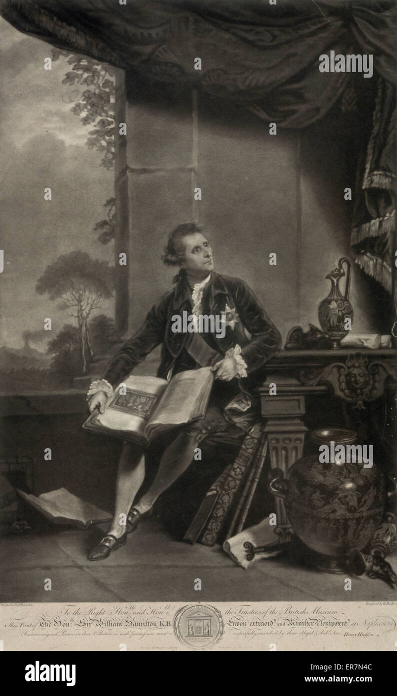 Sir William Hamilton. Photo Stock