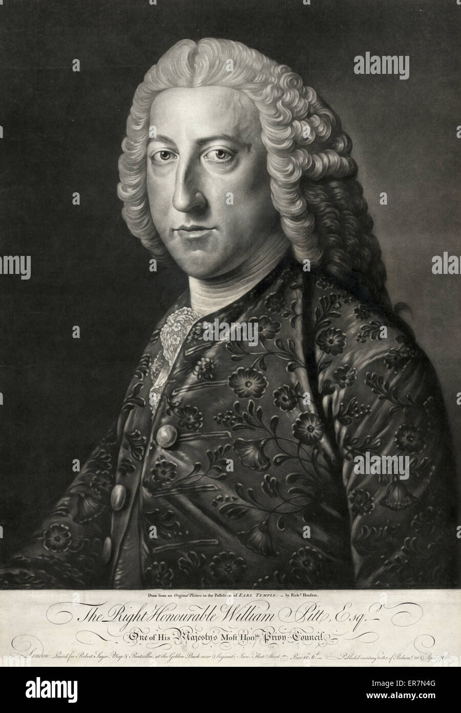 Le Très Honorable William Pitt, Esqr. Photo Stock