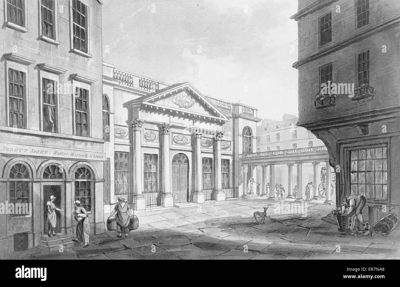 La Chambre De Pompe C Imprimer Montre Scène De Rue à Bath