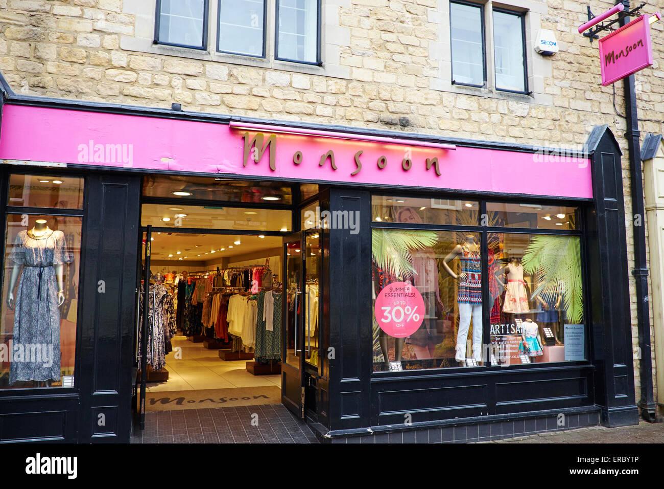 Boutique de vêtements de la mousson, St de Cricklade, Cirencester, Gloucestershire UK Photo Stock