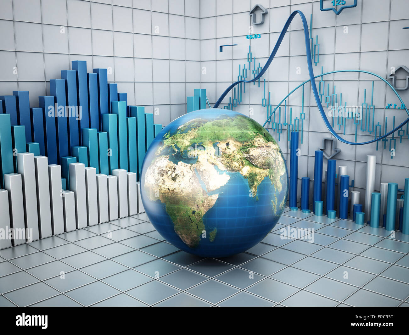 Concept global finance Photo Stock