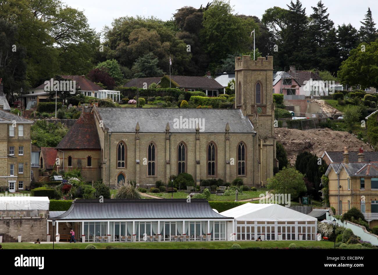 Église Saint Trinty à Cowes sur l'île de Wight Photo Stock