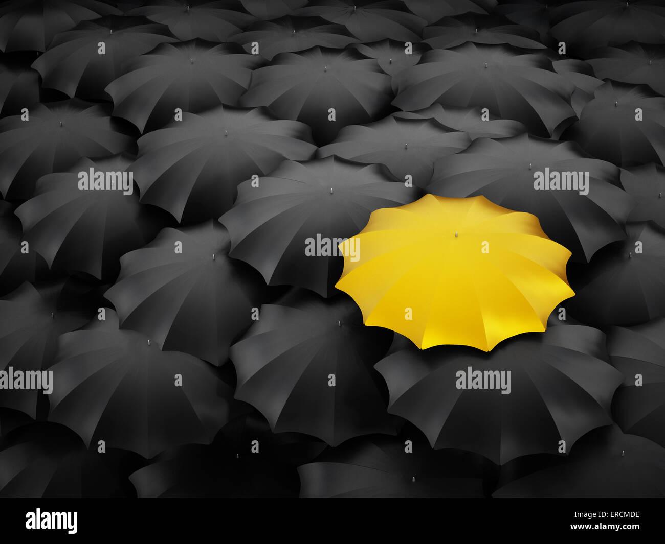 Debout, la différence, le concept d'originalité. Photo Stock