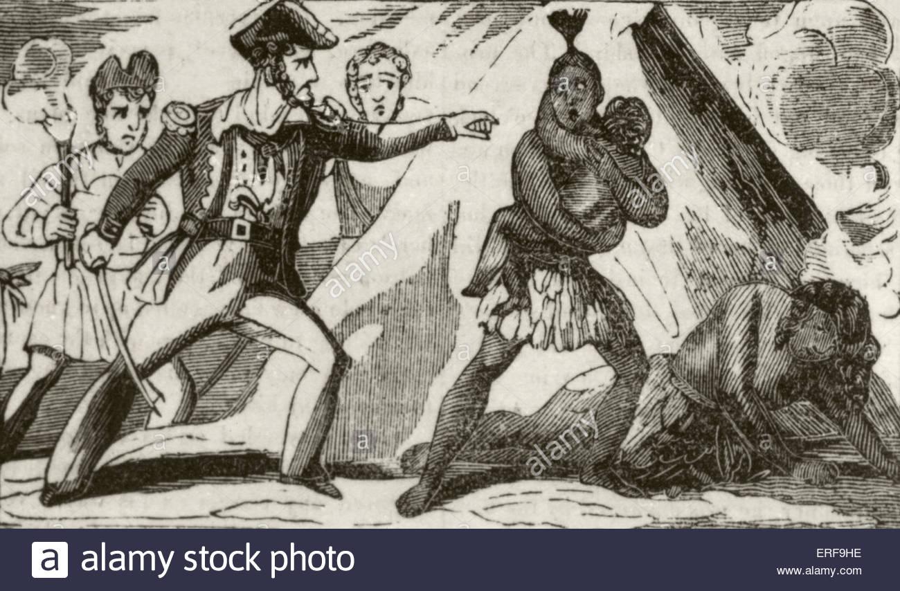 Aventures du Capitaine Edward England. Sous-titre suivant: l'Angleterre et ses hommes détruisant Photo Stock