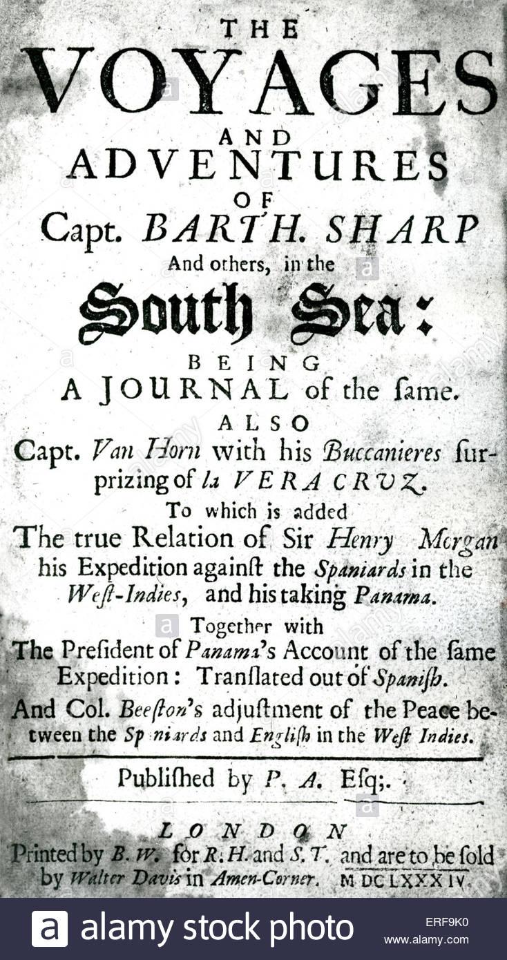 Titre complet se lit comme suit: les voyages et aventures du Capitaine Barth. Sharp et d'autres, dans Photo Stock
