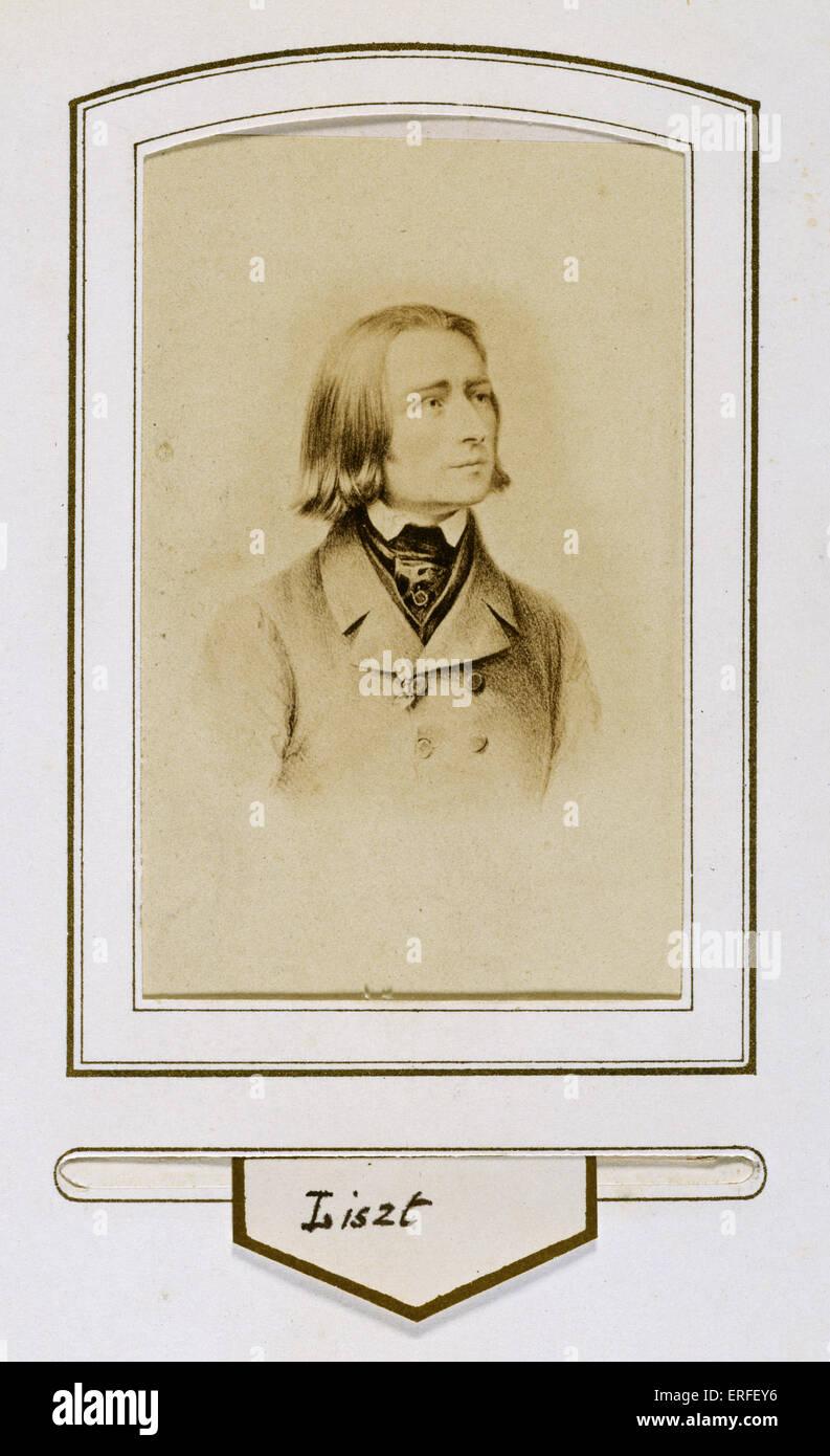 Quand Le Jeune Franz Liszt Carte De Visite Pianiste Et Compositeur Hongrois 1811 1886
