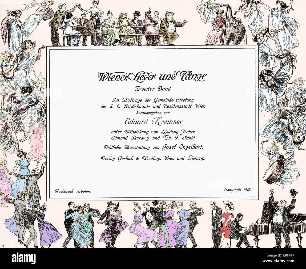 La Première Guerre mondiale avant Vienne. Valse, polka, réjouissance. La célébration. De l'alcool. Photo Stock