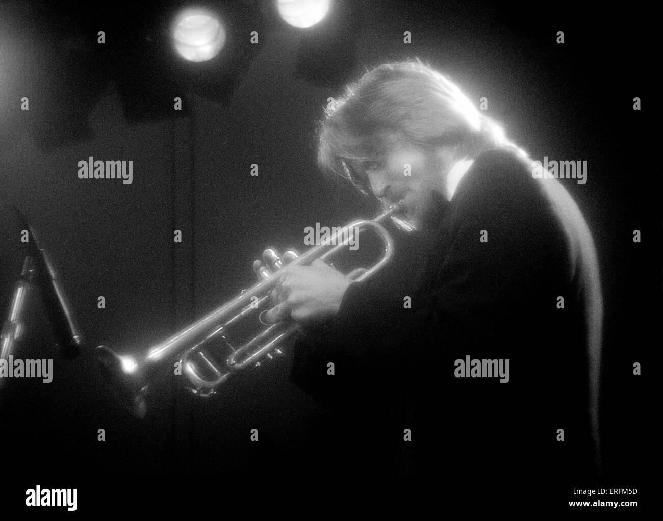 Trumpet player shot générique - nom inconnu Photo Stock
