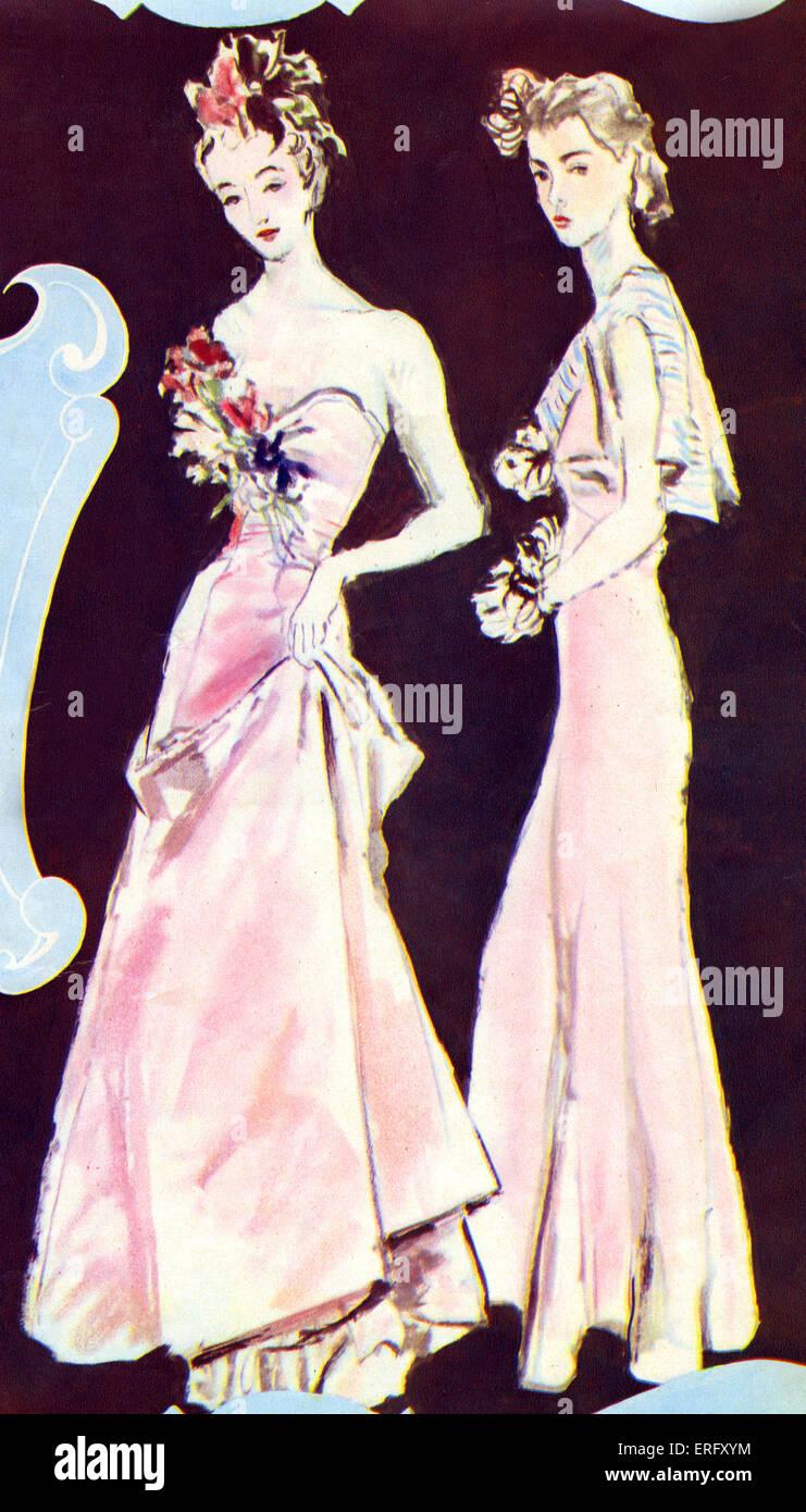 La mode française, de robes du soir de la Coco Chanel collection automne  1938. a6d7dafa5b1