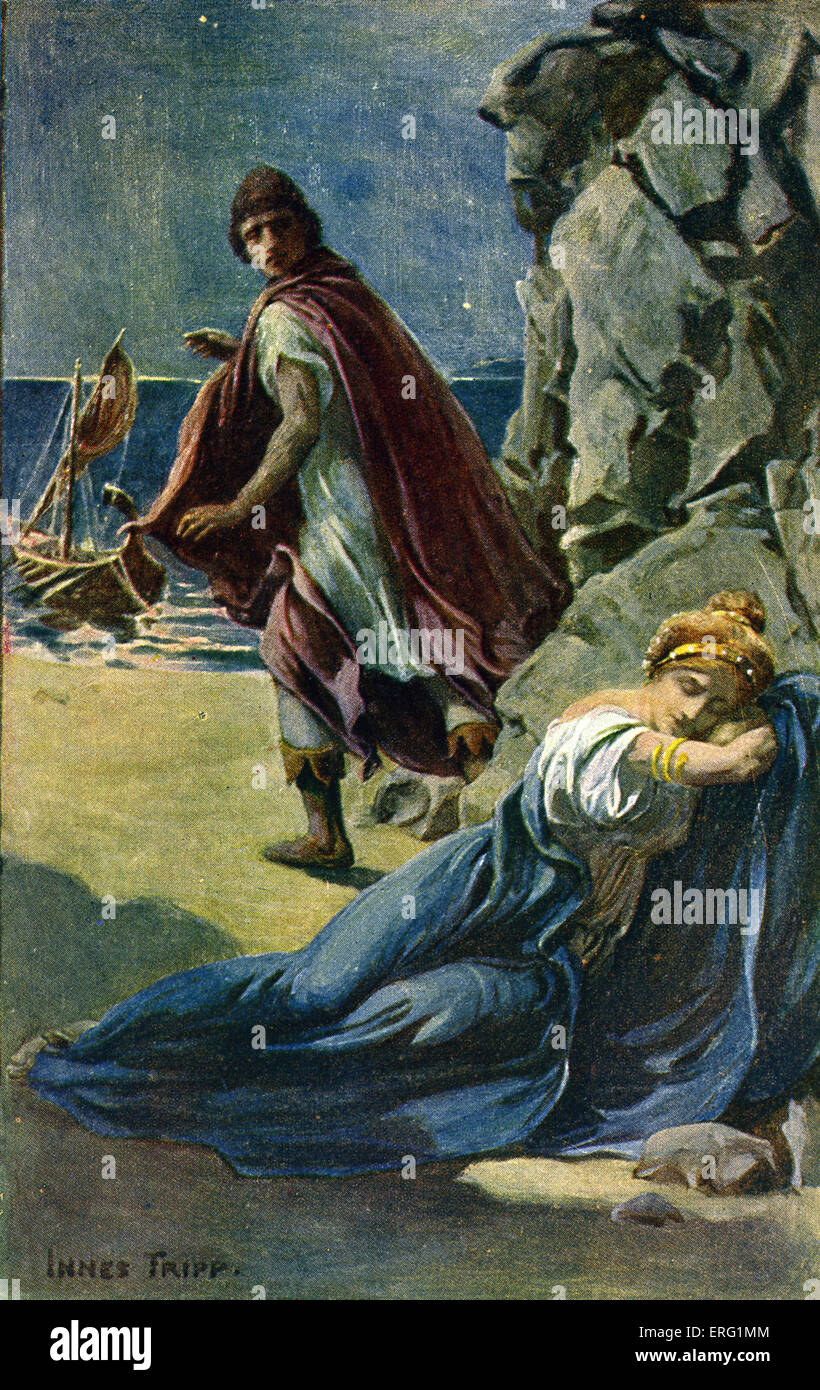 Tanglewood Tales par Nathaniel Hawthorne, publié 1853. Illustration par Innes Fripp (1864-1931). Sous-titre Photo Stock
