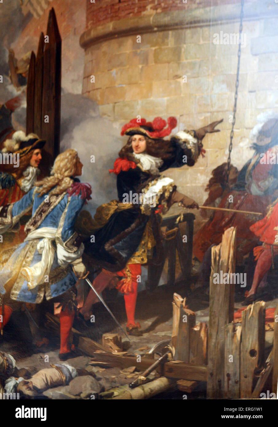 Valenciennes pris d'assaut par le Roi Louis XIV 17 Mai 1677 Banque D'Images