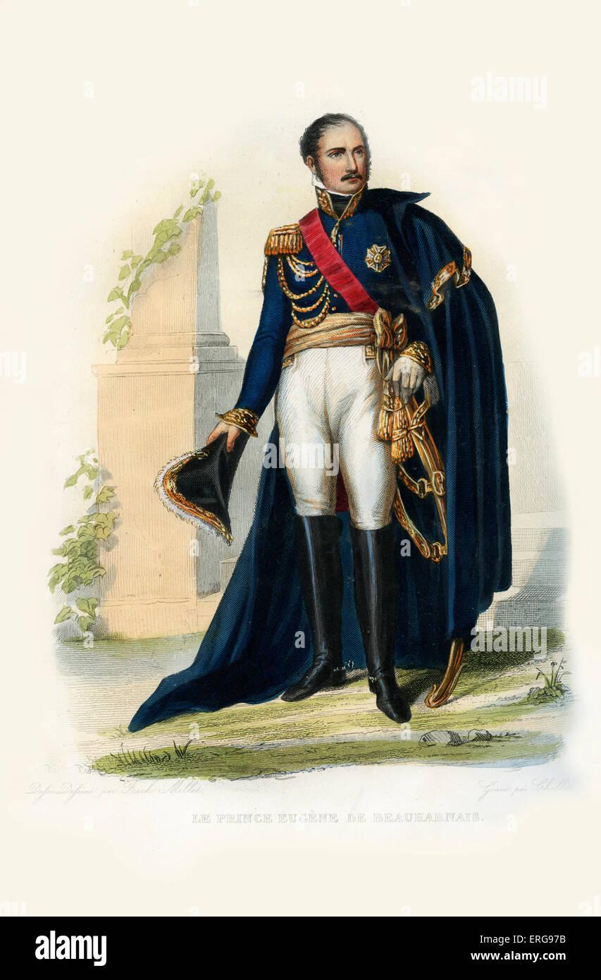 Eugène de Beauharnais. Fils de la première épouse de Napoléon, Joséphine et Alexandre et vicomte de Beauharnais. Prince de Venise et Banque D'Images