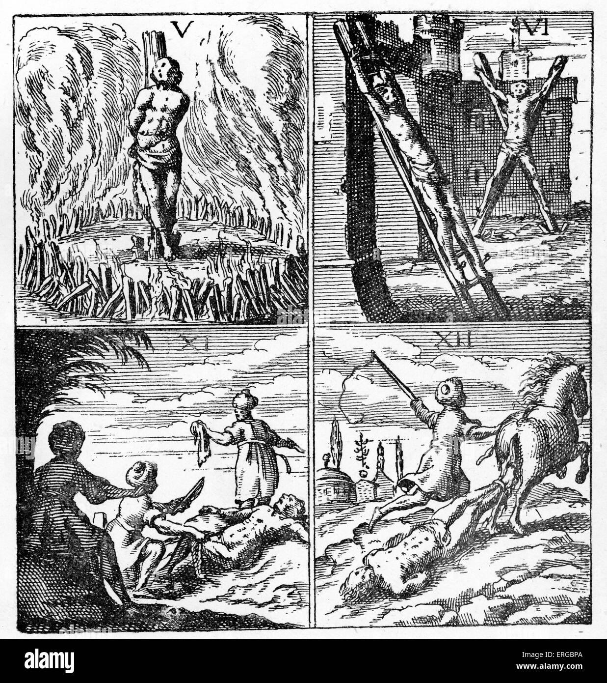 Esclaves Chretiens Tortures En Algerie 17eme Siecle Illustration