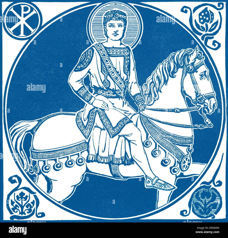 L'empereur byzantin Justinien I, ch. 482 - 565. Chef de l'Empire romain 527-565. Herbert Norris est mort Photo Stock
