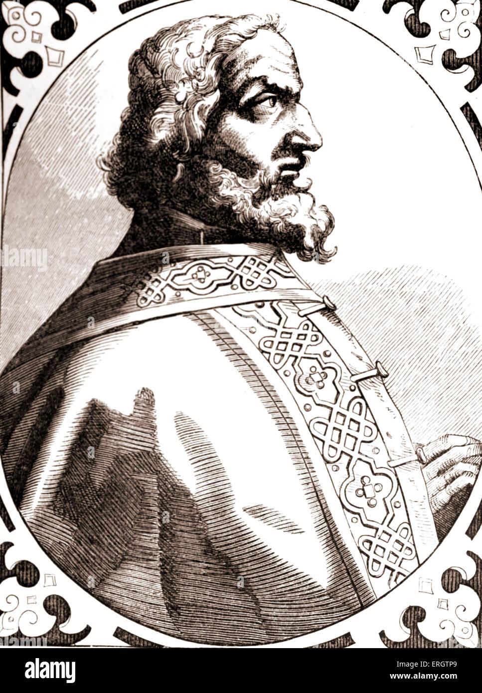 Charlemagne (Latin: Carolus Magnus, Charles le Grand sens) - portrait du roi des Francs. 742 ou 747 - 28 Janvier Photo Stock