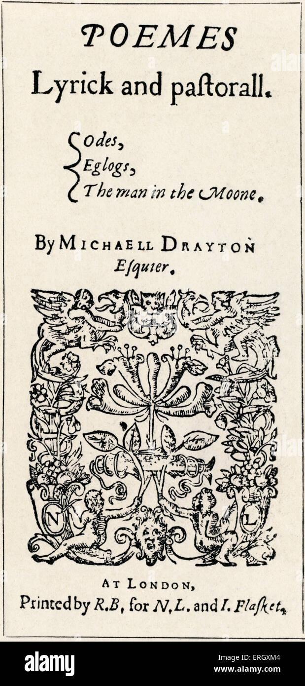 Les Poèmes de 'Drayton' par Michael Drayton. Page de titre. 1606. MD: poète anglais, 1563 - 23 décembre 1631. Banque D'Images