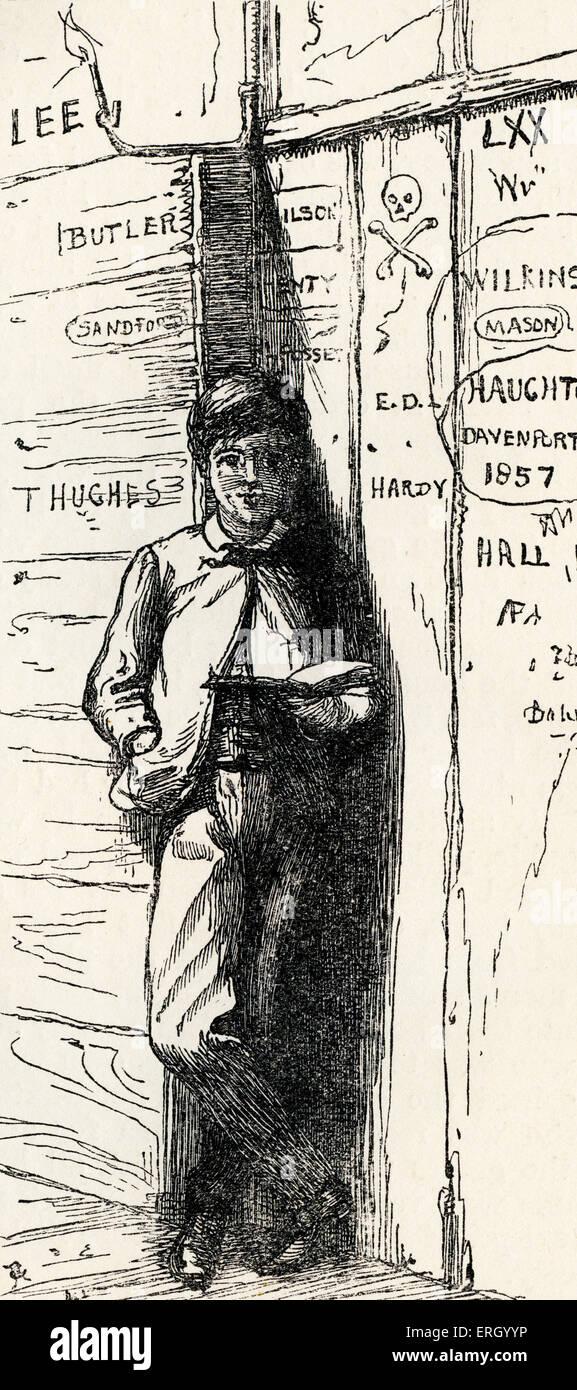 Tom Brown's, School-Days par Thomas Hughes, d'abord publié en 1857. Sous-titre suivant: 'Tom Photo Stock