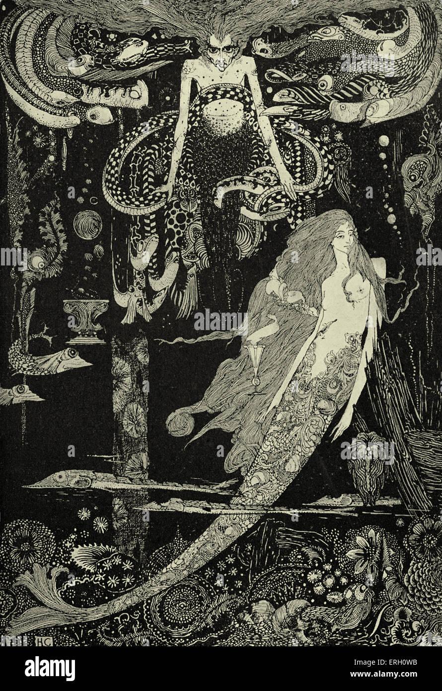 """La petite sirène de Hans Christian Andersen. Légende: """"Je sais ce que vous voulez"""", dit la sorcière de la mer. Banque D'Images"""