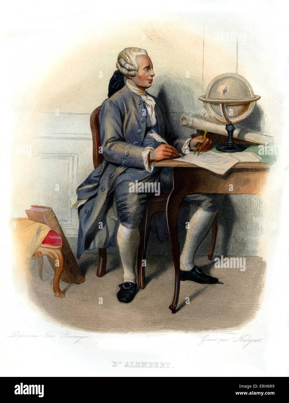 Jean-Baptiste le Rond d'Alembert. Le mathématicien, physicien, philosophe, scientifique américain, Photo Stock