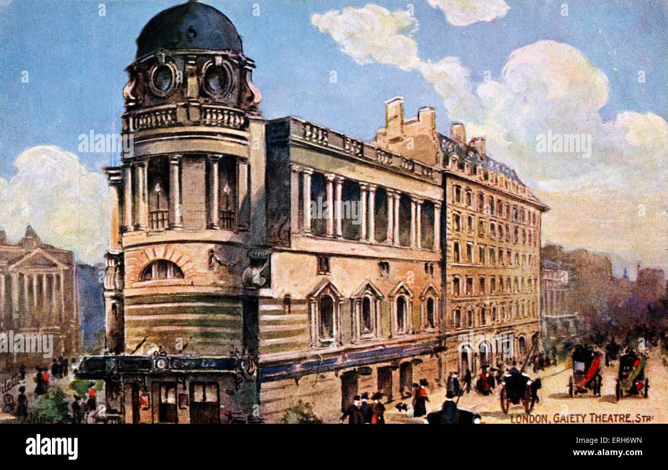 -Londres Théâtre Gaiety tournant du siècle. Les spectacles. Music Hall. Photo Stock