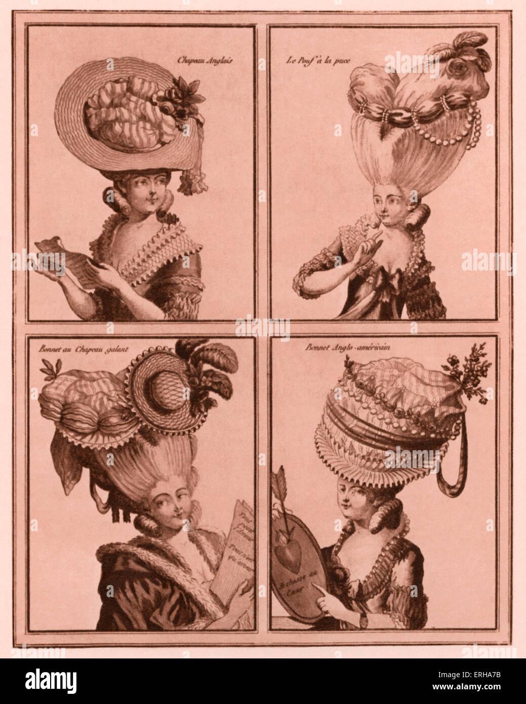 'Gallerie des modes et Costumes Francais' (Galerie des modes et costumes), 'Dessines d'après Photo Stock