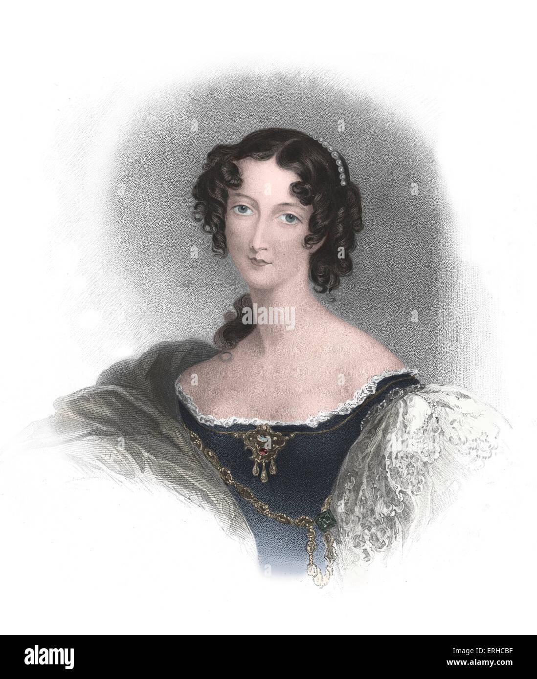 Comtesse de Jersey, Sarah Sophia Fane (plus tard Villiers) 1785-1867. La maîtresse du Prince de Galles et ami du poète Lord Banque D'Images