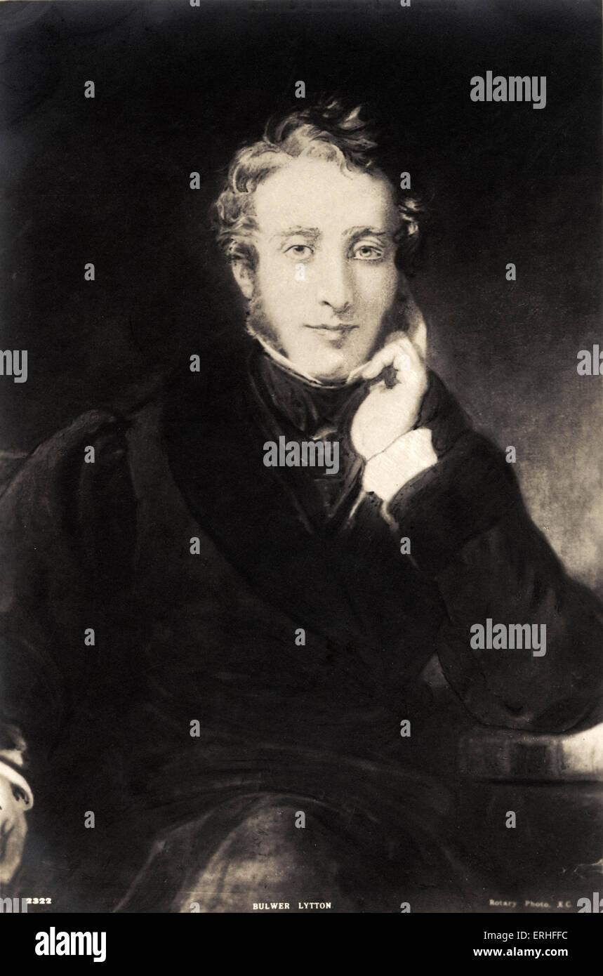 Edward Bulwer-Lytton - portrait - Anglais romancier, dramaturge, et homme politique 25 mai 1803 - 18 janvier 1873 Banque D'Images